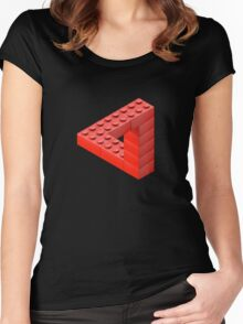 Escher Toy Bricks Women's Fitted Scoop T-Shirt