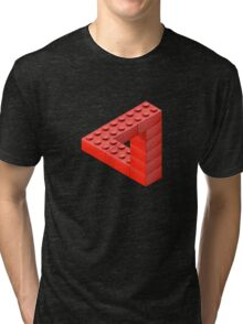 Escher Toy Bricks Tri-blend T-Shirt