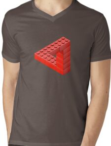 Escher Toy Bricks Mens V-Neck T-Shirt