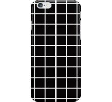 Grid Line Iphone 6 Case | White on Black iPhone Case/Skin