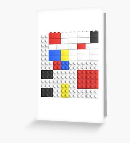 Mondrian Toy Bricks Greeting Card