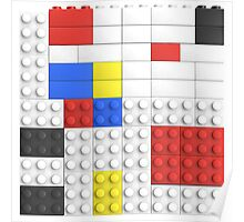 Mondrian Toy Bricks Poster
