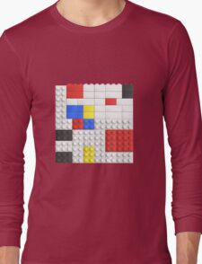 Mondrian Toy Bricks Long Sleeve T-Shirt