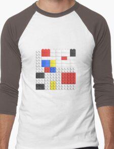 Mondrian Toy Bricks Men's Baseball ¾ T-Shirt