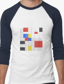 Mondrian Toy Bricks Men's Baseball ¾ T-Shirt
