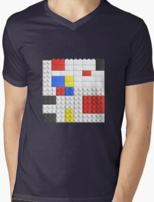 Mondrian Toy Bricks Mens V-Neck T-Shirt