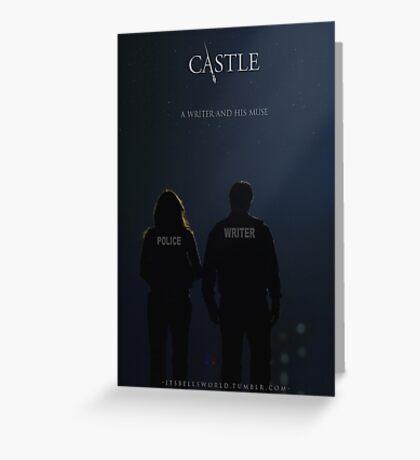 CASTLE POSTER Greeting Card