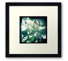 White lilies photograph Framed Print