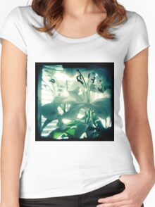 White lilies photograph Women's Fitted Scoop T-Shirt