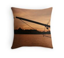 Sunset in Stockholm Throw Pillow