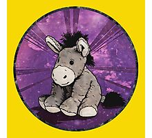 Donkey Plush (yellow) Photographic Print