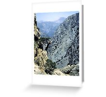 Samaria Gorge from Ginglos Greeting Card