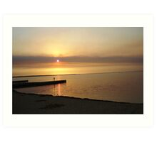 Sunset on the Lakes Art Print