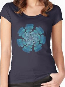 Blue Green Ornament 4 Women's Fitted Scoop T-Shirt