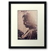 double exposure Framed Print