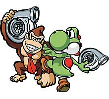 Boosted DK and Yoshi Photographic Print