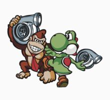Boosted DK and Yoshi by TswizzleEG