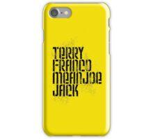 Terry Franco Mean Joe Jack / Gold iPhone Case/Skin
