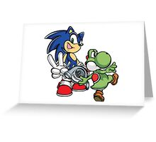 Boosted Sonic and Yoshi Greeting Card