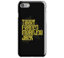 Terry Franco Mean Joe Jack / Black iPhone Case/Skin