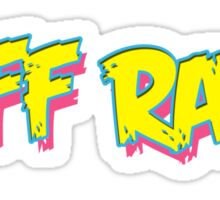 Riff Raff Logo - Neon Icon Sticker