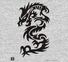 Black Only Chinese Tribal Dragon by David Avatara