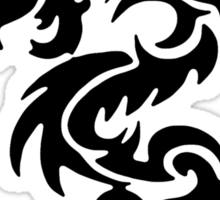 Black Only Chinese Tribal Dragon Sticker