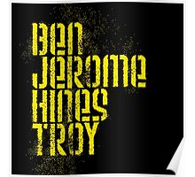 Ben Jerome Hines Troy / Black Poster