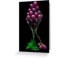 Grape Juice Greeting Card