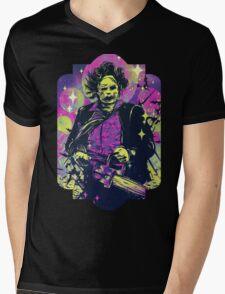 Leatherface  Mens V-Neck T-Shirt