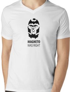 Magneto Was Right Mens V-Neck T-Shirt