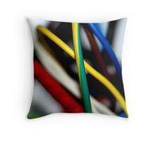Cut the green wire.. or the yellow wire? Throw Pillow