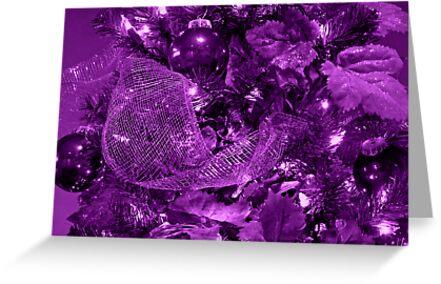 Purple Christmas by Sandy Keeton