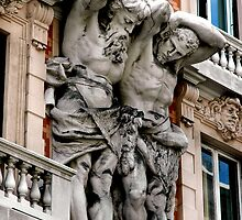 BUILDING GIANTS, GENOA, ITALY by Edward J. Laquale