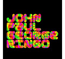 John Paul George Ringo Photographic Print