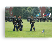 US Army 3d Infantry Regiment - The OLD GUARD - Pass in Review Canvas Print