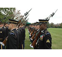 US Army 3d Infantry Regiment - Marches with Bayonet Fixed Photographic Print