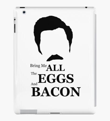 Ron Swanson (Eggs & Bacon) iPad Case/Skin