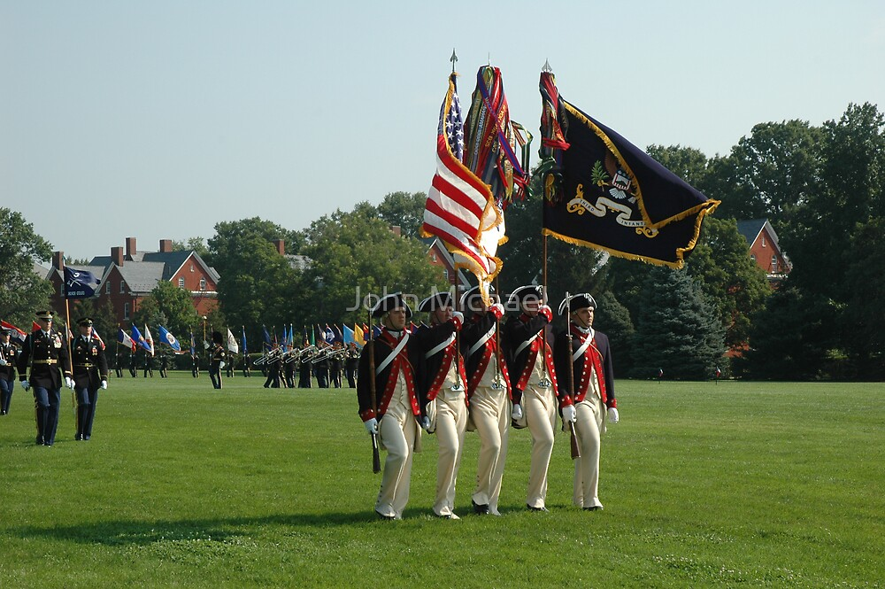 US Army 3d Infantry Regiment - Continental Color Guard by John Michael