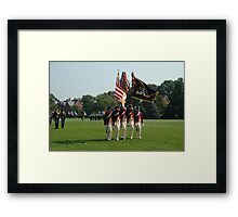 US Army 3d Infantry Regiment - Continental Color Guard Framed Print
