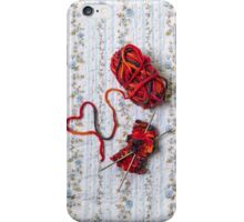 knitted with love iPhone Case/Skin
