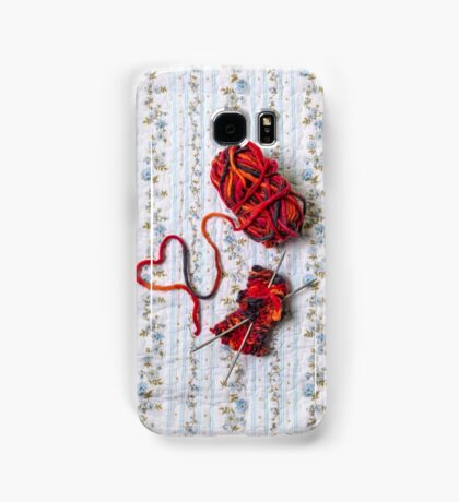 knitted with love Samsung Galaxy Case/Skin