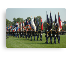 US ARMY 3d Infantry Regiment - Review of the US States' Colors Canvas Print