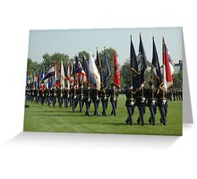 US ARMY 3d Infantry Regiment - Review of the US States' Colors Greeting Card