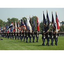 US ARMY 3d Infantry Regiment - Review of the US States' Colors Photographic Print