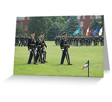US ARMY 3d Infantry Regiment - The OLD GUARD - Pass in Review Greeting Card