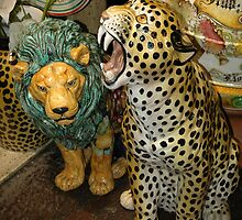 MAJOLICA ANIMALS, FLORENCE, ITALY by Edward J. Laquale