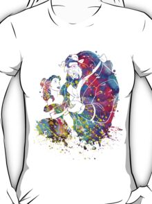 Beauty and the Beast Princess Belle Watercolor T-Shirt