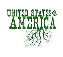 United States of America Roots Photographic Print