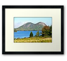Jordan Pond, The Bubbles, Early Fall, Acadia NP, Maine Framed Print